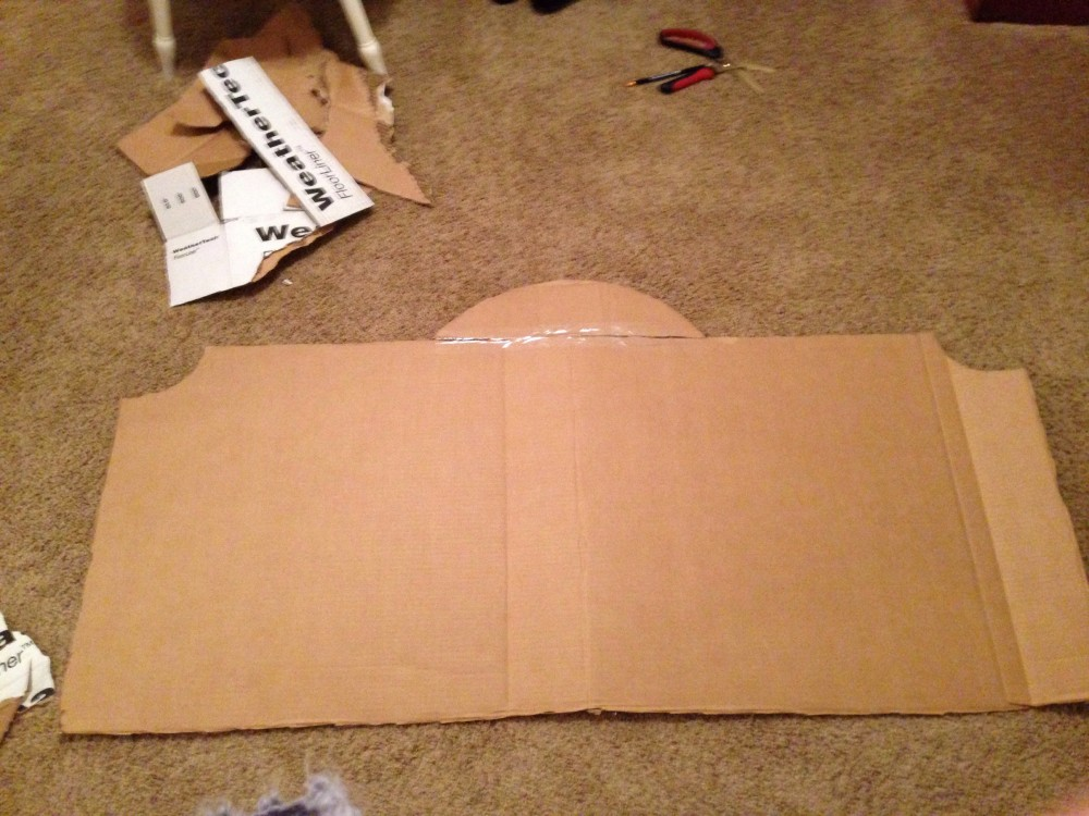 Headboard DIY with cardboard (1/3)